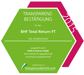 BHF Total Return FT Transparenzbestätigung 2015
