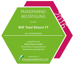 BHF Total Return FT Transparenzbestätigung 2016