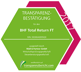 BHF Total Return FT Transparenzbestätigung 2017